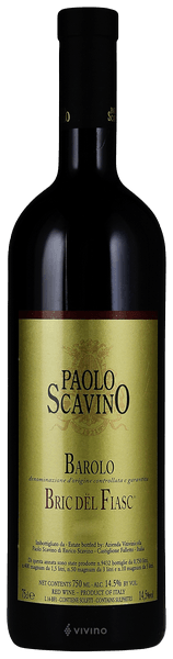 2016 Paolo Scavino Bric Dël Fiasc Barolo